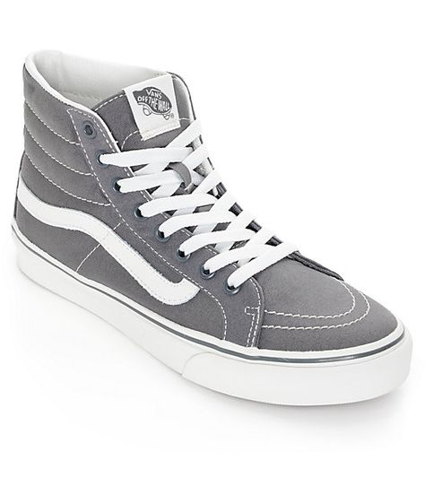 c4e0bad01e21a6 Add a classic style in a new slimmer design to any look for an instant  improvement with a slim high top Castlerock grey canvas upper and a  contrast…
