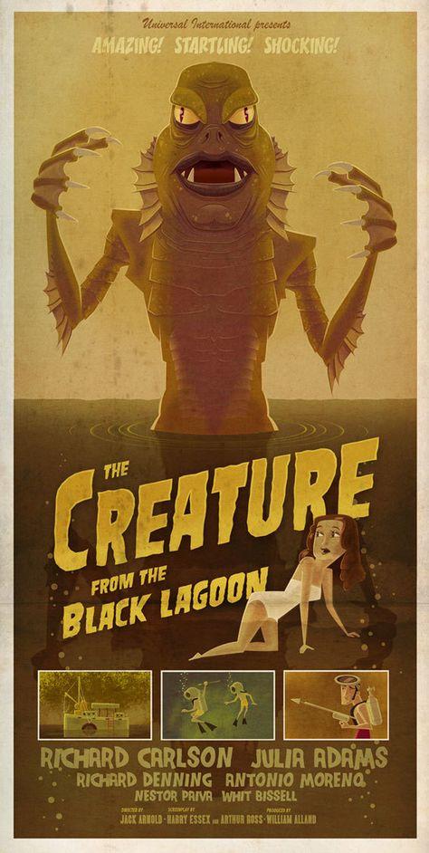 B Movie Monsters Poster Series Character Design, Digital Art, Illustration. James Gilleard London, United Kingdom