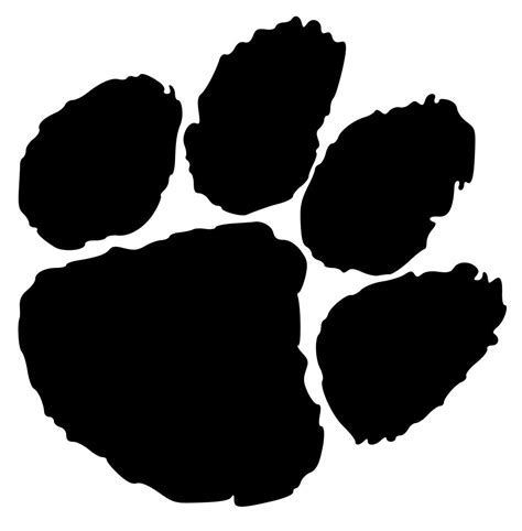 Clemson Tiger Paw Svg Tiger Paw Print Clemson Paw Tiger Paw