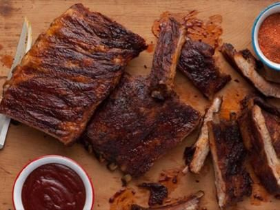 Memphis Style Hickory Smoked Beef And Pork Ribs Recipe Pork Ribs Smoked Beef Rib Recipes