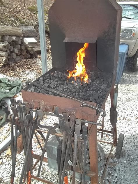 My Folding Coal Forge Design Solid Fuel Forges I Forge