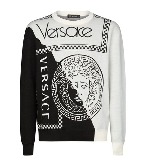 VERSACE GRAPHIC MEDUSA SWEATER. #versace #cloth