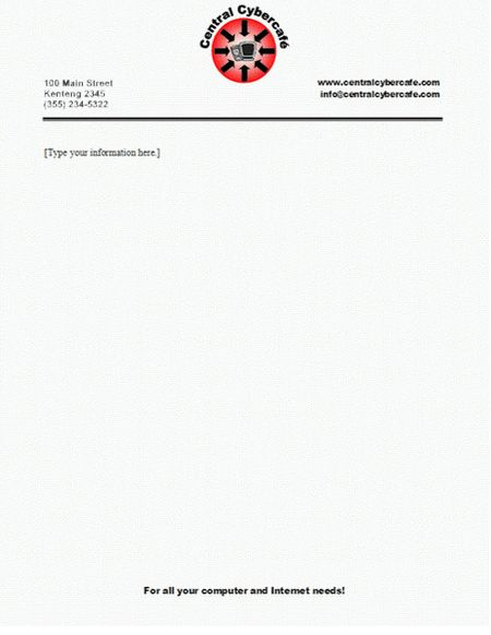 Company Letterhead Templates Doc safepcinfo AVT 311 Corporate - business letterhead