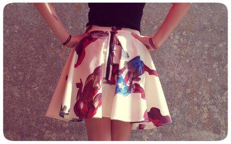 How to make a Flare skirt Pattern / Patronnages de Jupe à Godets We all deserve a SUPER HERO!