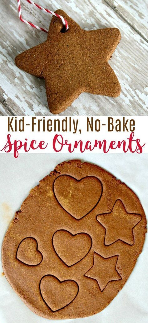 This no bake cinnamon DIY spice ornament recipe will wow the kids and have your house smelling amazing from fall through the holiday season! #cinnamon #ornament #diyproject #diycrafts #crafts #craftsforkids #christmascrafts #christmasideas #christmasornaments #rufflesandrainboots