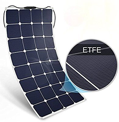 Amazon Com Bougerv 100w 18v 12v Solar Panel Charger Etfe Sunpower Cell Solar Power Flexible Ultra Thin With Rv Travel Trailers Solar Panel Charger Rv Travel