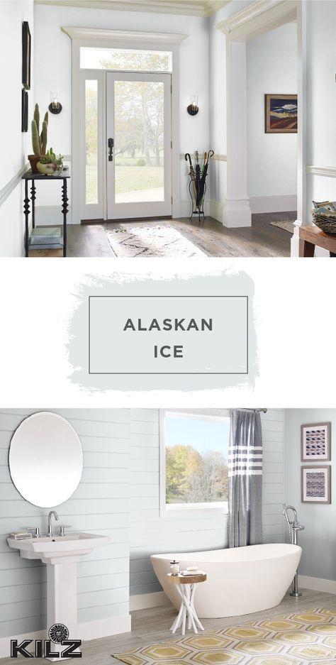 Use The Light Gray Hue Of Alaskan Ice By Kilz Complete Coat Paint