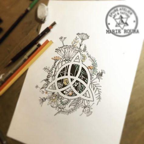 Day21// Triquetra #epureatelier #marieroura #tattoosketch #triquetra #wicca (reserved)