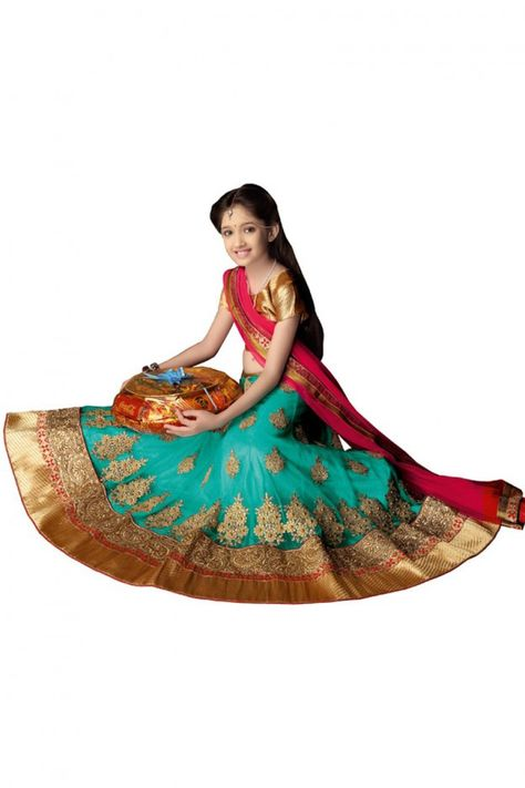 Product Name Girl's - Pink, Blue Heavy Work - Lehnga / Half Saree - Gilr's Party And Wedding Collection Lehnga Set For Special Occasions Product Code LEH-WEDD-1037-16 SKU 50008 Material Brocade, Net, Jacquard, Lycra Color Pink, Blue Work Embroidery work, Patch work, Stone work, Jari work, Jardoshi work Style Designer, Traditional, Fashionable Occasion Wedding, Mahendi, Sangeet, Party Items included Semi Stitched Lehnga Skirt, Ready to Stitch Blouse Material and half saree Product Weight 1.5 Size