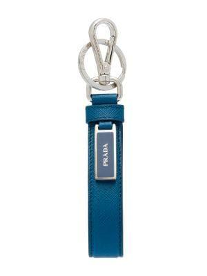 Men's designer keyrings - Farfetch   Prada saffiano, Chains for men, Prada