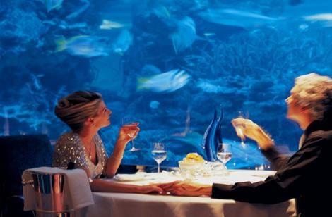 Dining Underwater In Dubais Burj Al Arab Hotel