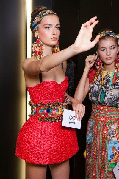 Dolce & Gabbana at Milan Fashion Week Spring 2013 - Backstage Runway Photos