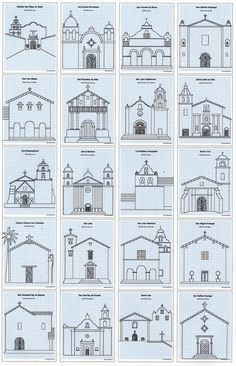 Architecture Drawing Guide california mission drawing guide | california missions and craft