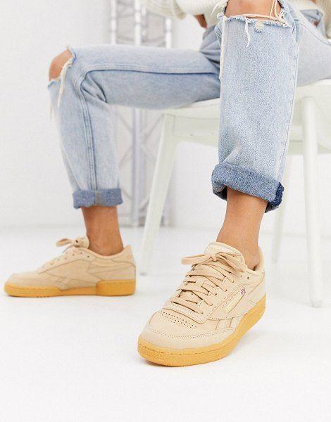 Reebok Club C Sneakers In Beige And Gum