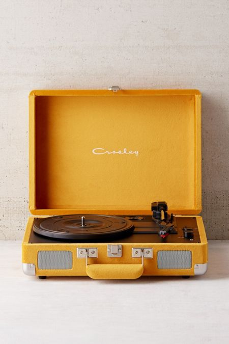 Crosley UO Exclusive Velvet Cruiser Bluetooth Record Player Shop Crosley X UO Velvet Cruiser Bluetooth Record Player at Urban Outfitters today. We carry all the latest styles, colors and brands for you to choose from right here. Yellow Aesthetic Pastel, Aesthetic Colors, Aesthetic Vintage, Aesthetic Pictures, Aesthetic Grunge, Orange Aesthetic, Aesthetic Drawing, Aesthetic Fashion, Bedroom Wall Collage