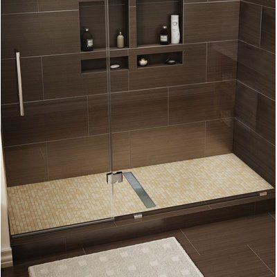 Tile Redi 60 X 42 Single Threshold Shower Base With Drain Grate