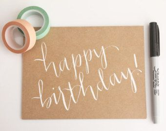 List Of Pinterest Happy Birthday Calligraphy Cards Etsy Pictures