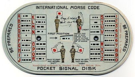 International Morse Code Pocket Signal Disk Morse code - morse code chart