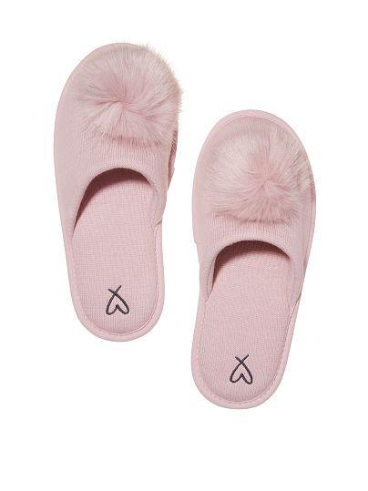 9c230c885c9b3 Victoria's Secret Pom Pom slippers size Medium | c o m f y c o z y ...