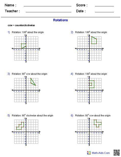 Pin By Abdulhaq On My Stuff Geometry Worksheets Transformations Math Reflection Math