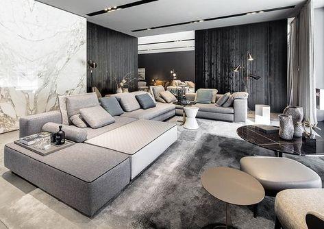 2020 Spacious Living Room Decoration Interior Design Modern