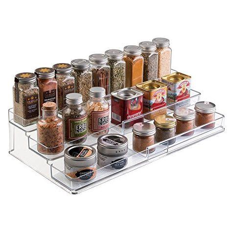 mdesign gewürzregal für küchenschrank - ausziehbare