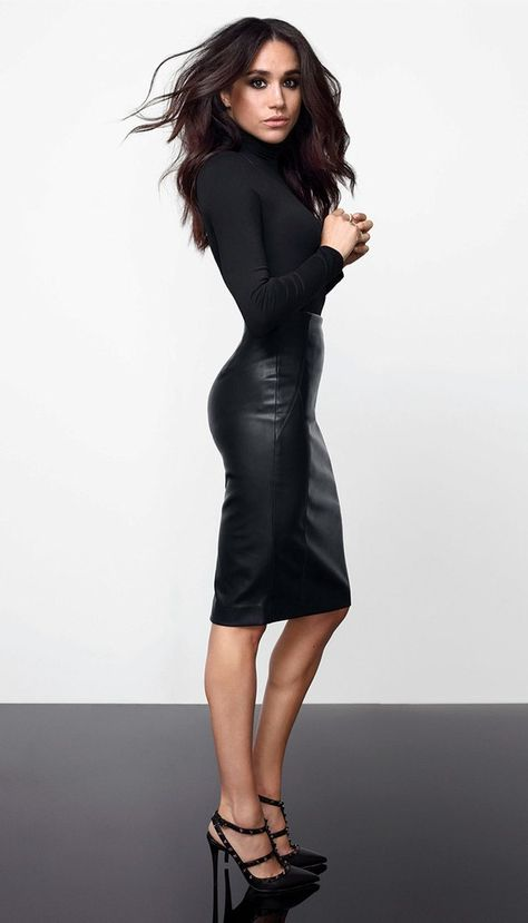 New Ladies Meghan Markle Celeb Polo High Neck Faux Leather Panel Bodycon Dress Women Dresses. Fashion is a popular style