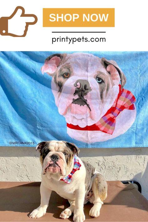 Custom Pet Print Beach Towel Beach Towel Pets Your Pet