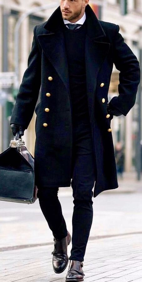Mens Fashion Coat Winter, Mens Long Black Winter Coats