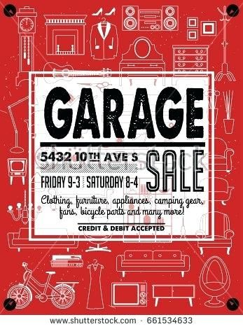 Yard Sale Sign Template Garage Or Yard Sale With Signs Box
