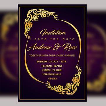 Purple Wedding Invitation Card Template Psd File With Vector Royal Border Invitation Card Format Wedding Invitation Card Template Purple Wedding Invitations