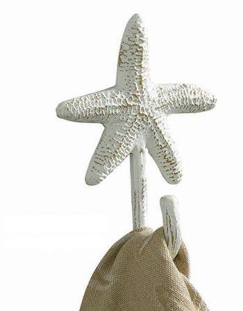 Starfish Single Towel Hook   OceanStyles.com