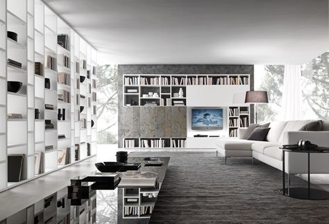 19 best PRESOTTO images on Pinterest Book shelves, Bookcases and - bucherregal systeme presotto highlight wohnraum