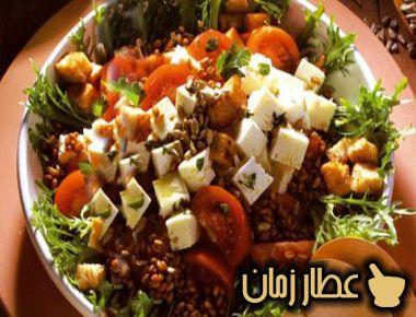 طريقة تحضير سلطة العدس وجبنة الحلوم بالصوص الخاص عطار زمان Salad Culinary Food