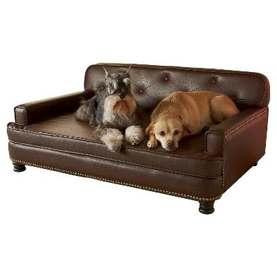 Awesome Enchanted Home Pet Library Pet Sofa L Brown Dog Bed Machost Co Dining Chair Design Ideas Machostcouk