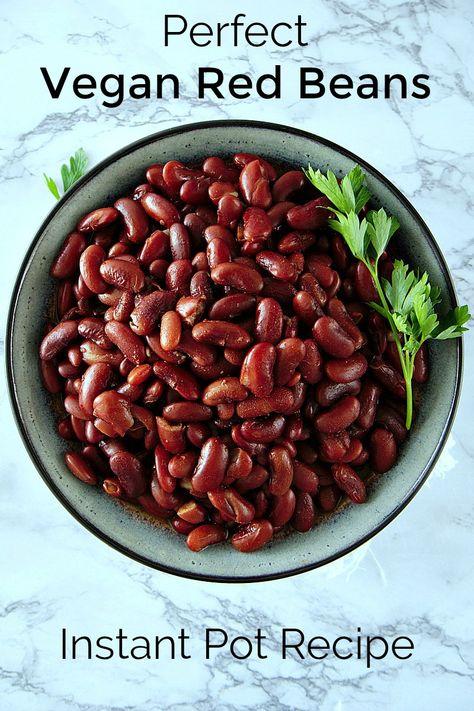 Perfect Vegan Pressure Cooker Red Beans