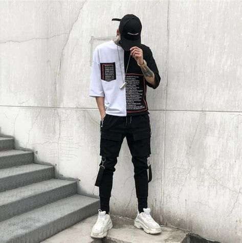 Outfits Hipster, Urban Outfits, Rock Outfits, Trendy Outfits For Guys, Sport Outfits, Mens Cargo, Cargo Pants Men, Men's Pants, Suit Man