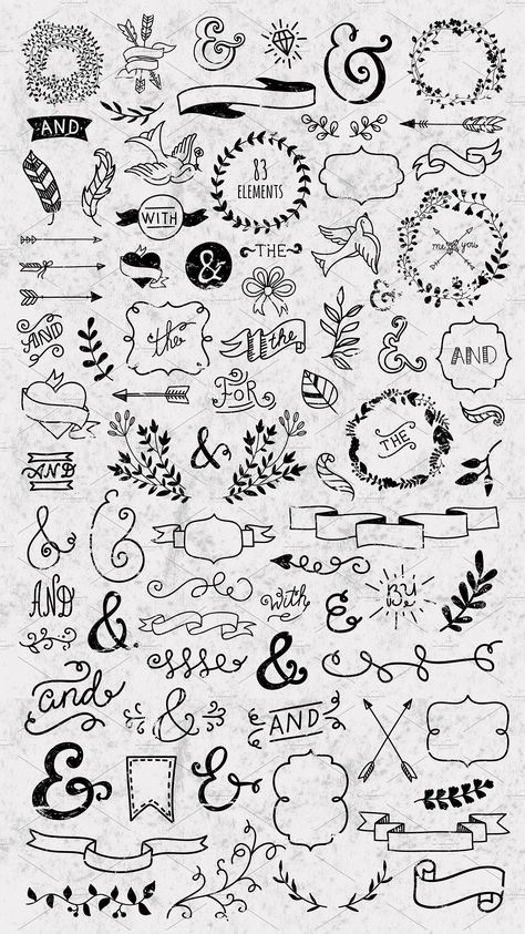 Hand drawn designers collection #vector#resize#posters#website