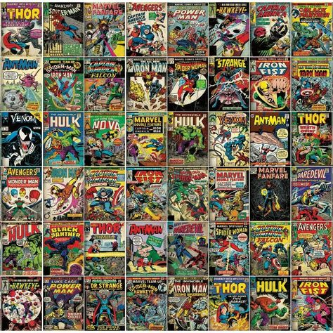 Marvel Comic Cover Peel and Stick Mural