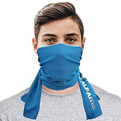 Amazon Com Alfamo Cooling Bandana Towel Blue S Ultra Soft