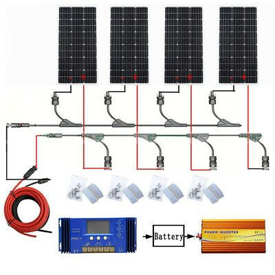 Advertisement Eco Worthy 400w Watts 12v Monocrystalline Solar Panel Charging Kit Off Grid Best Solar Panels 12 Volt Solar Panels Solar Panels