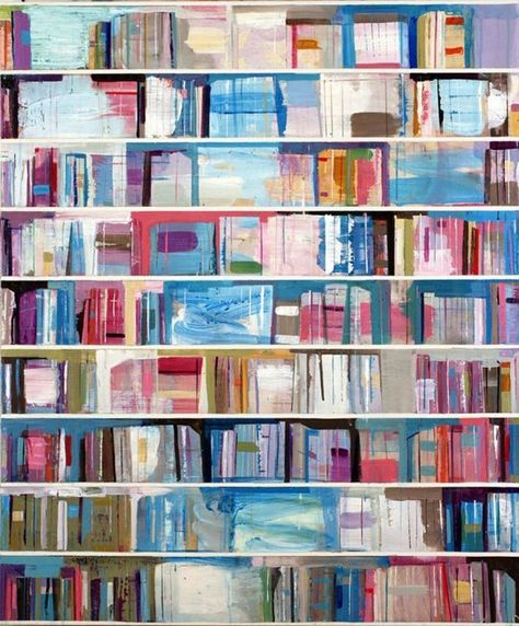 Art Books: Paintings of Books by Stanford Kay