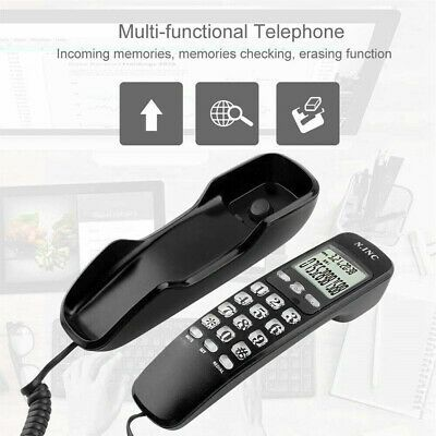 Fsk Dtmf Caller Id Landline Lcd Display Corded Telephone Hotel Home Office In 2020 Caller Id Landline Phone Handset