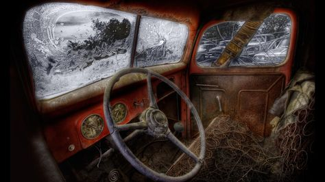 Old Cars, remember when. interior