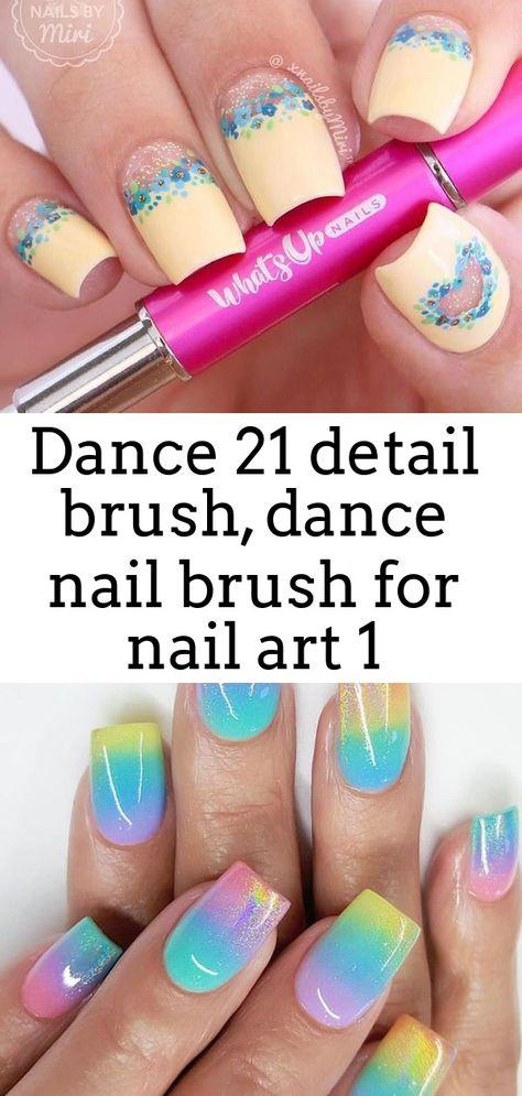 Dance 21 detail brush, dance nail brush for nail art 1