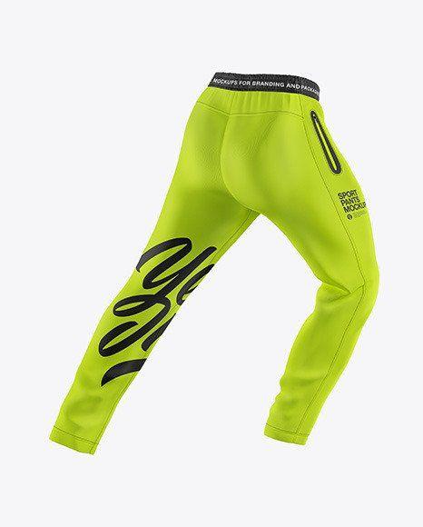 Mens Sport Pants Mockup Men S Sport Pants Mockup In Apparel Mockups On Yellow Images In 2020 Clothing Mockup Men Sport Pants Sport Pants