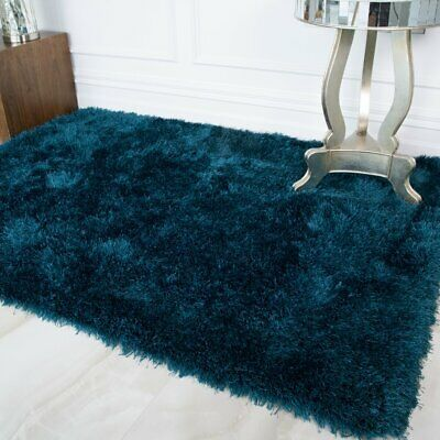 Quality Navy Blue Shaggy Rugs Thick Deep Soft Anti Shed Living Room Area Rug Shaggy Rug Area Room Rugs Bedroom Rug