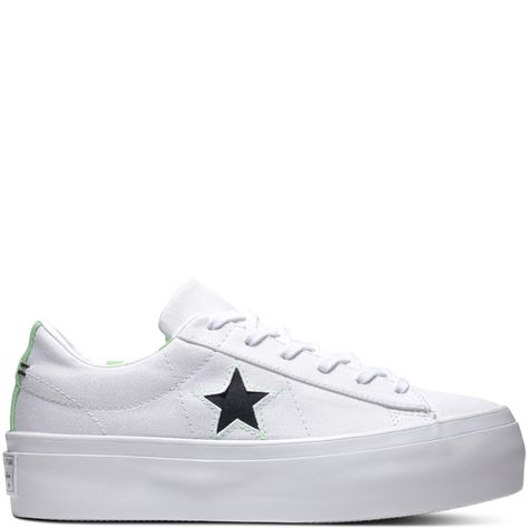5194d017a213 One Star Platform Whites   Brights White Illusion Green Black ...