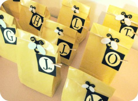 Yellow Bumble Bee Party Goodie Bags 1600x1167 Pixels