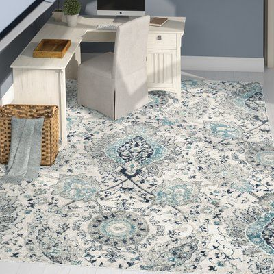 Matelles Cream Light Grey Area Rug Area Rugs Rugs In Living Room Blue And Cream Living Room
